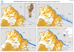 Northern Benin Floods  Satellite detected Water from 29 July to 8 October 2020