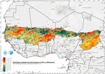 Sahel Region Vegetation Growth Comparison of 2011 vs 2004 Seasons (Drought)