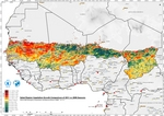 Sahel Region Vegetation Growth Comparison of 2011 vs 2009 Seasons (Drought)