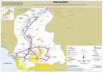 PAKISTAN, LOWER SINDH, LOGISTICS INFRASTRUCTURES LAYOUT MAP, FLOODS 2011, 30 September 2020