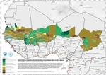 Sahel Region Vegetation Growth Deviation from Regular Start of 2011 Season, by district (DROUGHT)