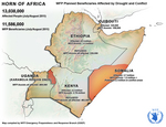 Horn of Africa, WFP Planned Beneficiaries, Affected by Drought and Conflict, 21 July 2020