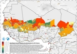 Sahel Region Current Vegetation Growth Deviations by district, for 2011 Season (Drought)