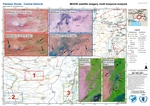 Pakistan Floods, Central districts, MODIS satellite imagery multi - temporal analysis, 02 August 2020