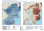 Zimbabwe, Mozambique and South Africa - December 2009 - Rainfall distributions and deviations from average (1998-2009)